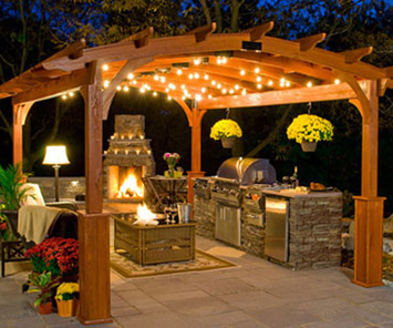 Pergola at Night in Jacksonville, FL