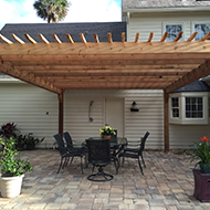 Front View of a Pergola in Jacksonville, FL