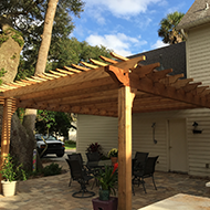 Side View of Pergola in Jacksonville, FL