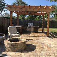 Pergola with an Outdoor Kitchen in Jacksonville, FL