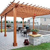 Newly Built Pergola in Jacksonville, FL