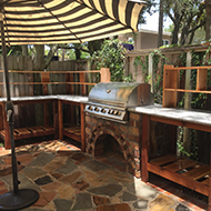 Outdoor Kitchen with an Umbrella in Jacksonville, FL