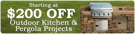 Starting at $200 Off Outdoor Kitchen & Pergola Projects