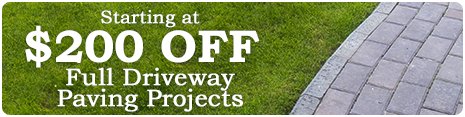 Starting at $200 Off Full Driveway Paving Projects